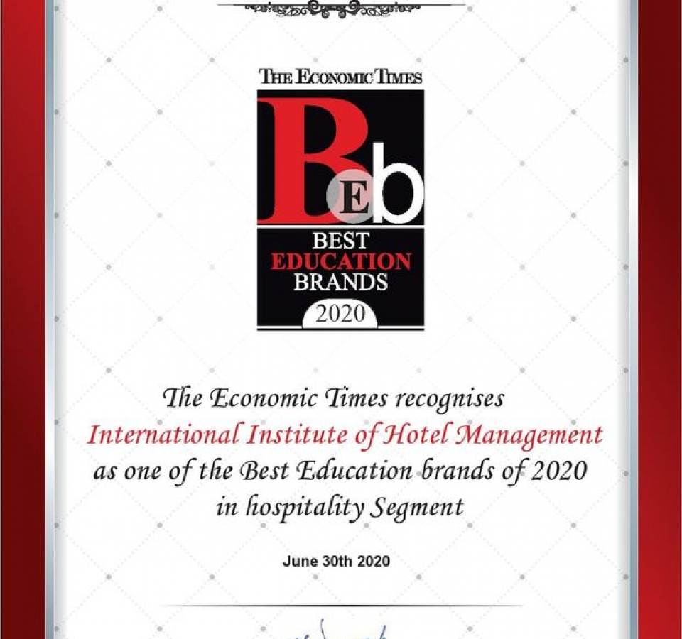 The Economic Times ( Best Education Brand - 2020 )